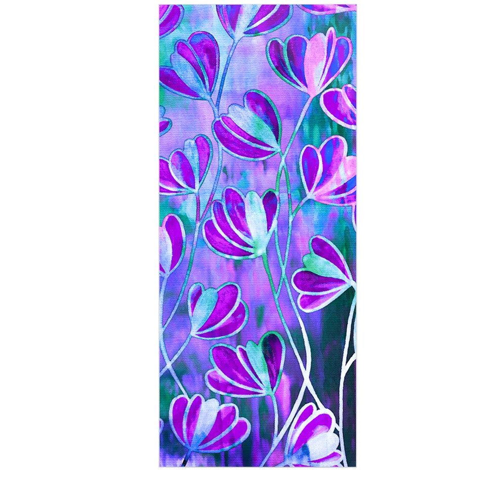 "Ebi Emporium ""Efflorescence - Lavender Blue"" Teal Purple Luxe Rectangle Panel - KESS InHouse  - 1"