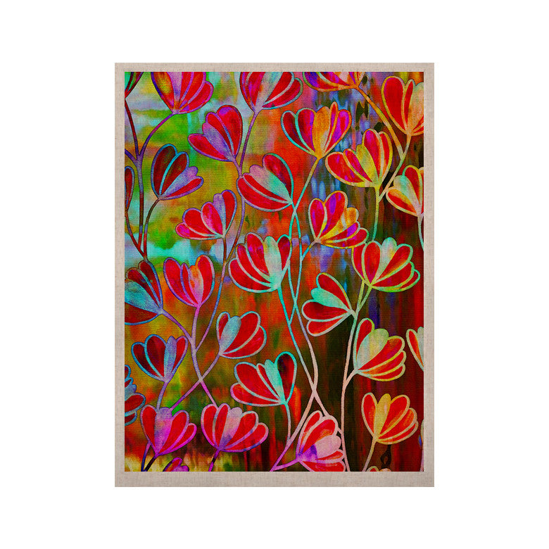 "Ebi Emporium ""Efflorescence - Technicolor"" Red Multicolor KESS Naturals Canvas (Frame not Included) - KESS InHouse  - 1"