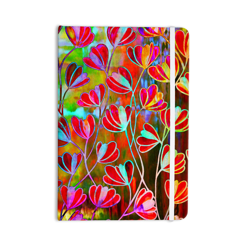 "Ebi Emporium ""Efflorescence - Technicolor"" Red Multicolor Everything Notebook - KESS InHouse  - 1"