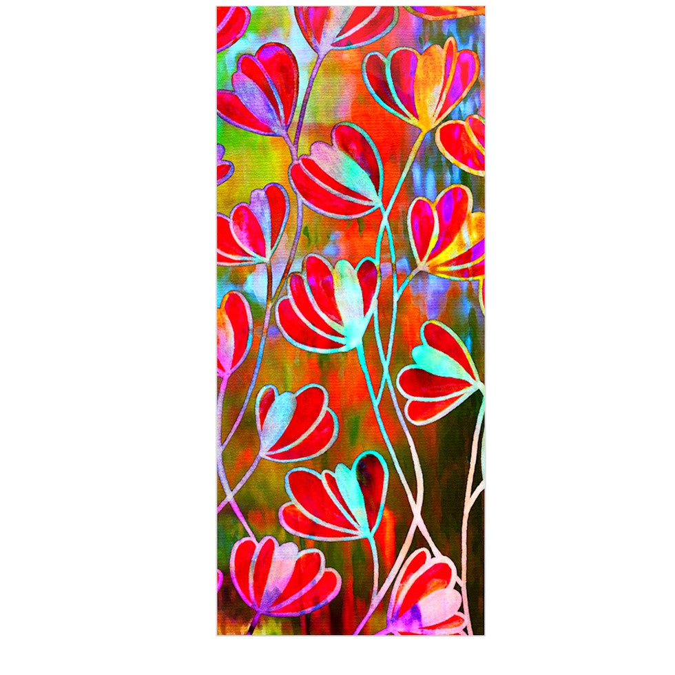 "Ebi Emporium ""Efflorescence - Technicolor"" Red Multicolor Luxe Rectangle Panel - KESS InHouse  - 1"