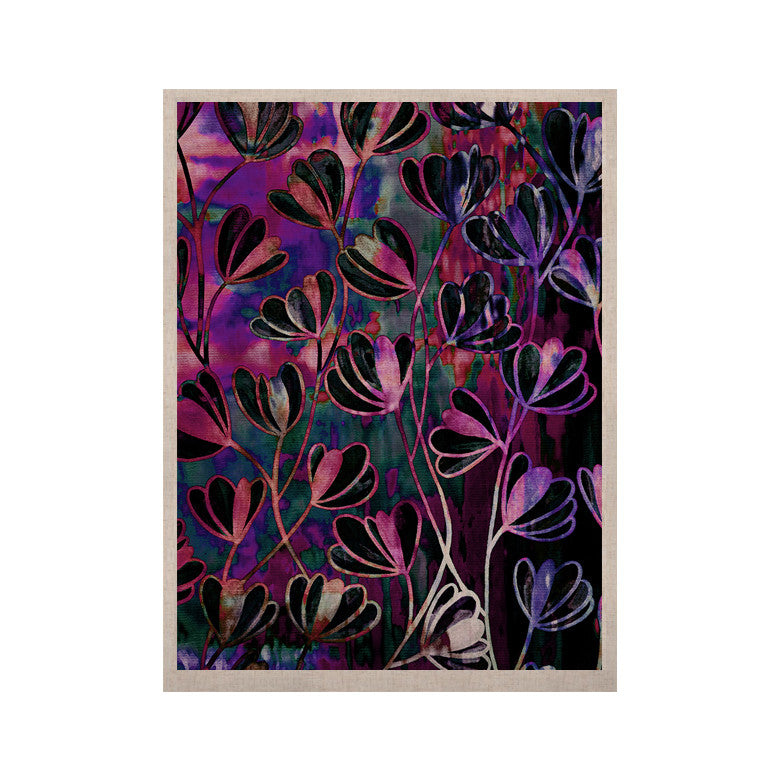 "Ebi Emporium ""Efflorescence - Mixed Berry"" Pink Purple KESS Naturals Canvas (Frame not Included) - KESS InHouse  - 1"