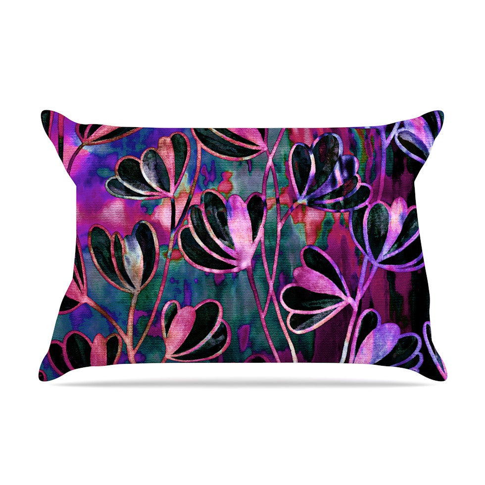 "Ebi Emporium ""Efflorescence - Mixed Berry"" Pink Purple Pillow Sham - KESS InHouse"
