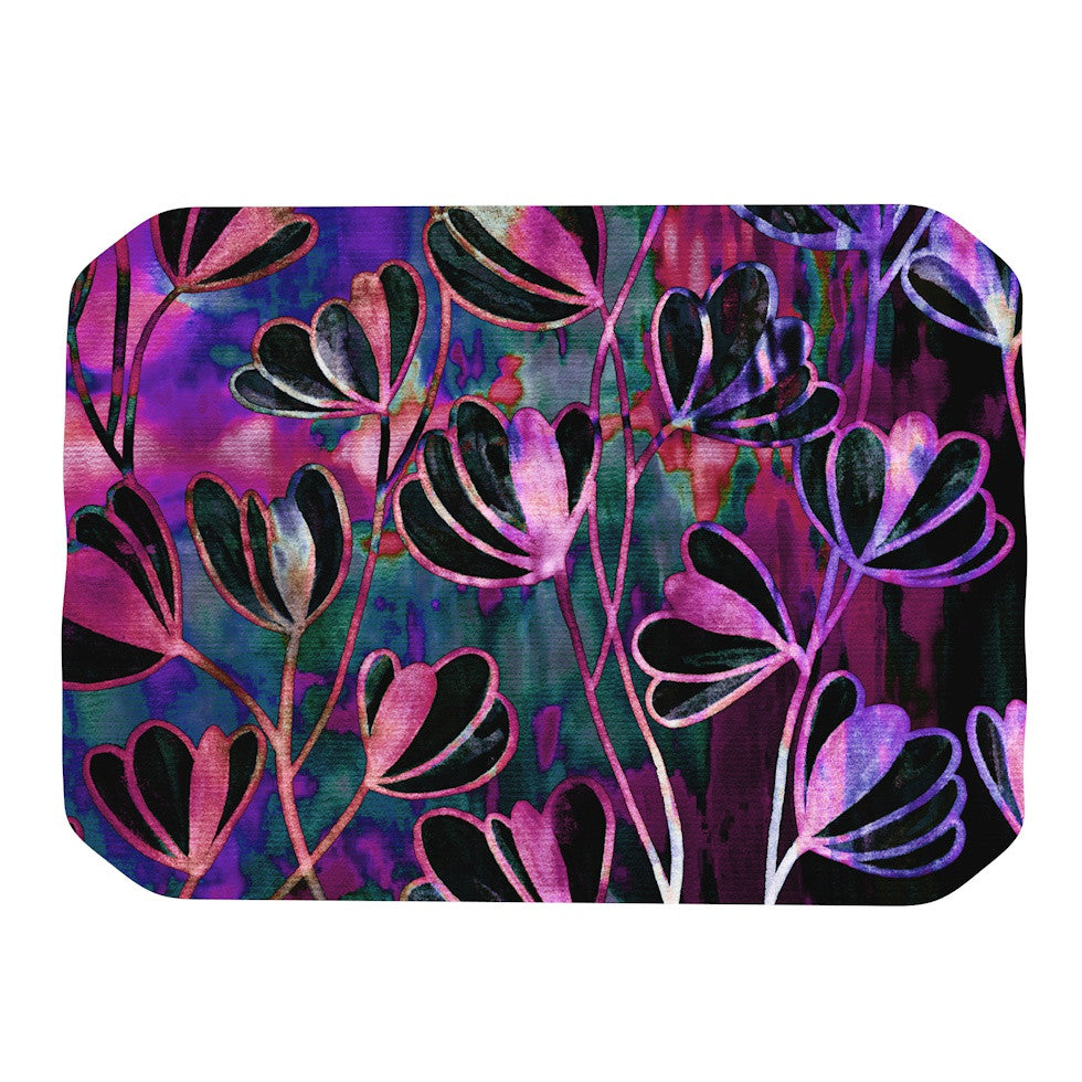 "Ebi Emporium ""Efflorescence - Mixed Berry"" Pink Purple Place Mat - KESS InHouse"