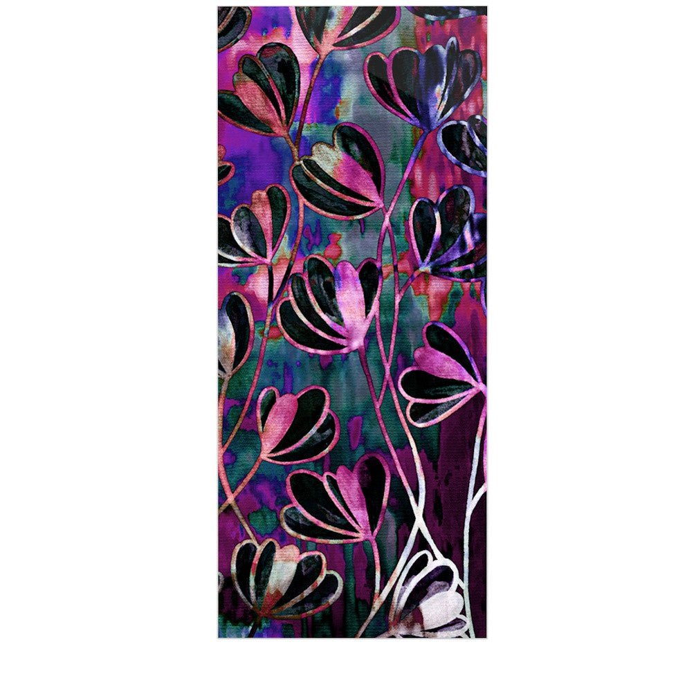 "Ebi Emporium ""Efflorescence - Mixed Berry"" Pink Purple Luxe Rectangle Panel - KESS InHouse  - 1"