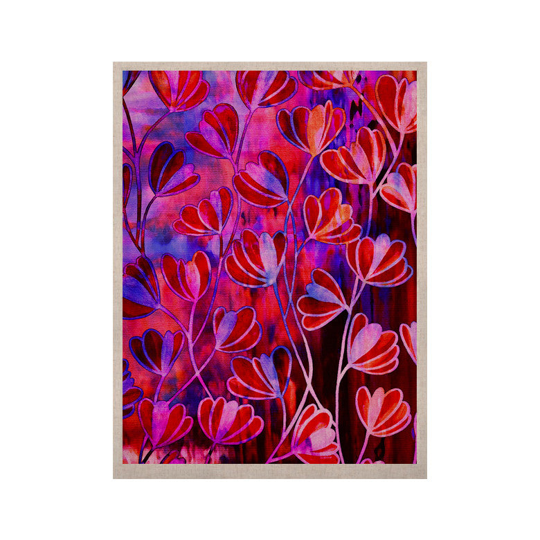 "Ebi Emporium ""Efflorescence - Red Pink"" Magenta Lavender KESS Naturals Canvas (Frame not Included) - KESS InHouse  - 1"