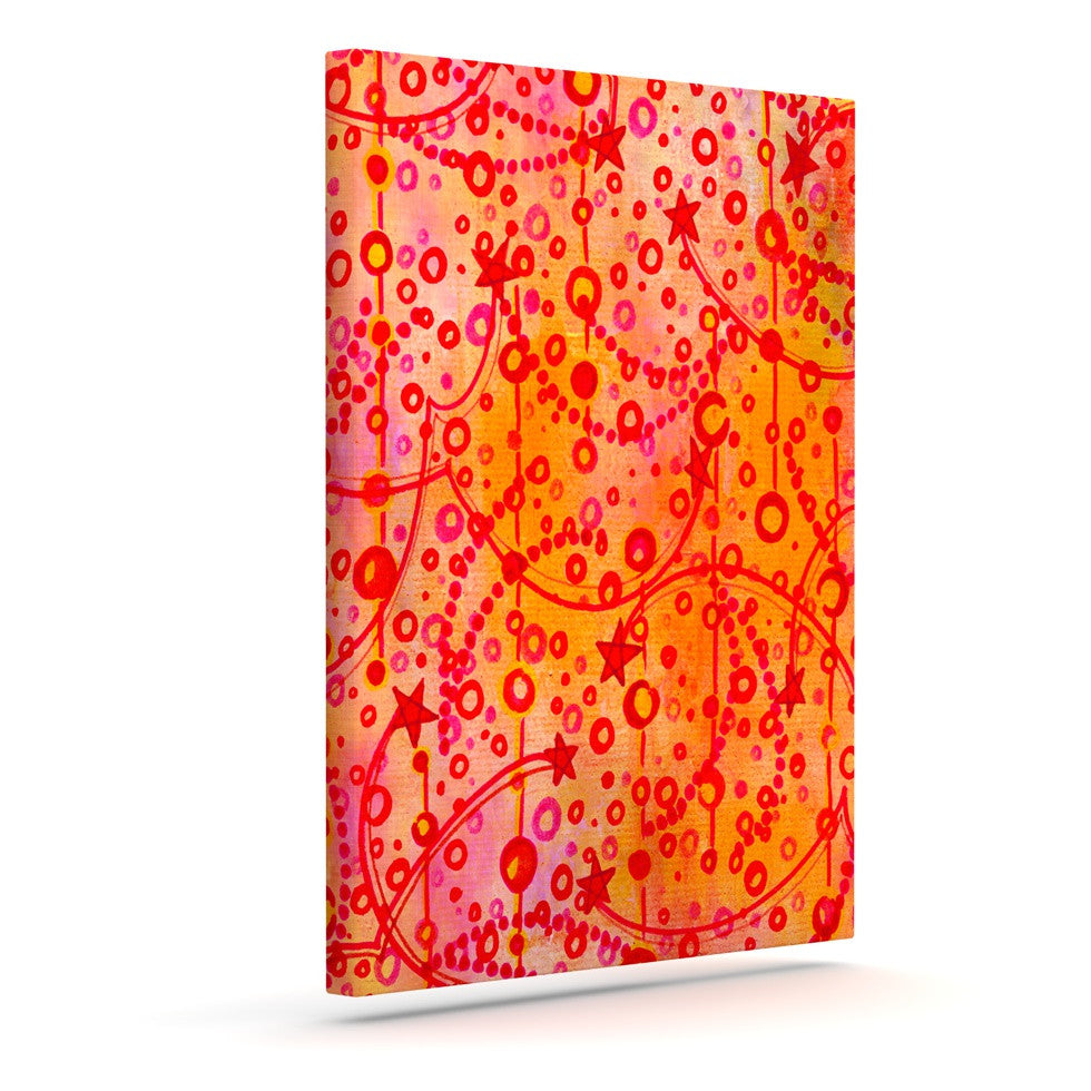 "Ebi Emporium ""Make A Wish"" Orange Red Canvas Art - KESS InHouse  - 1"