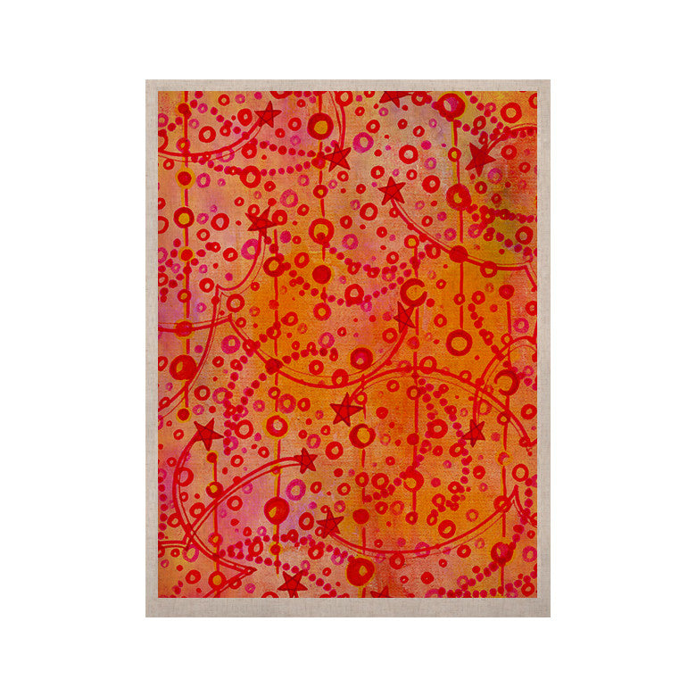 "Ebi Emporium ""Make A Wish"" Orange Red KESS Naturals Canvas (Frame not Included) - KESS InHouse  - 1"