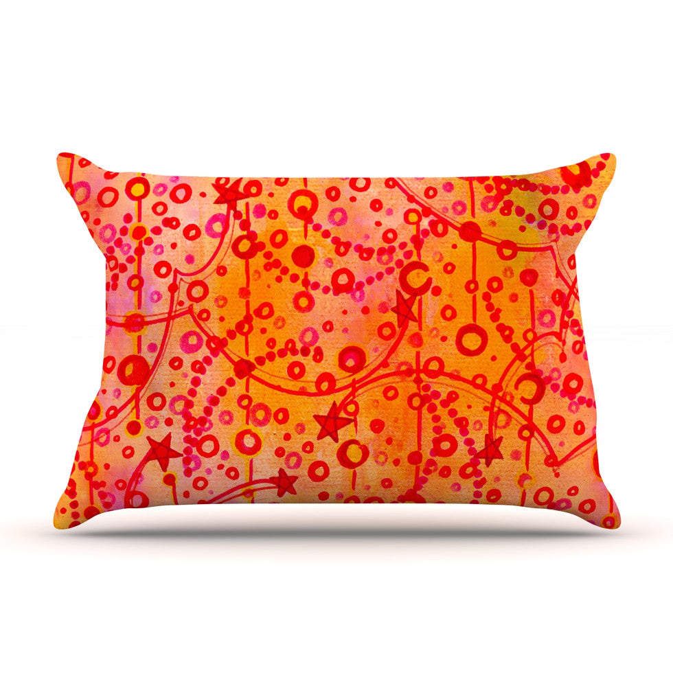 "Ebi Emporium ""Make A Wish"" Orange Red Pillow Sham - KESS InHouse"