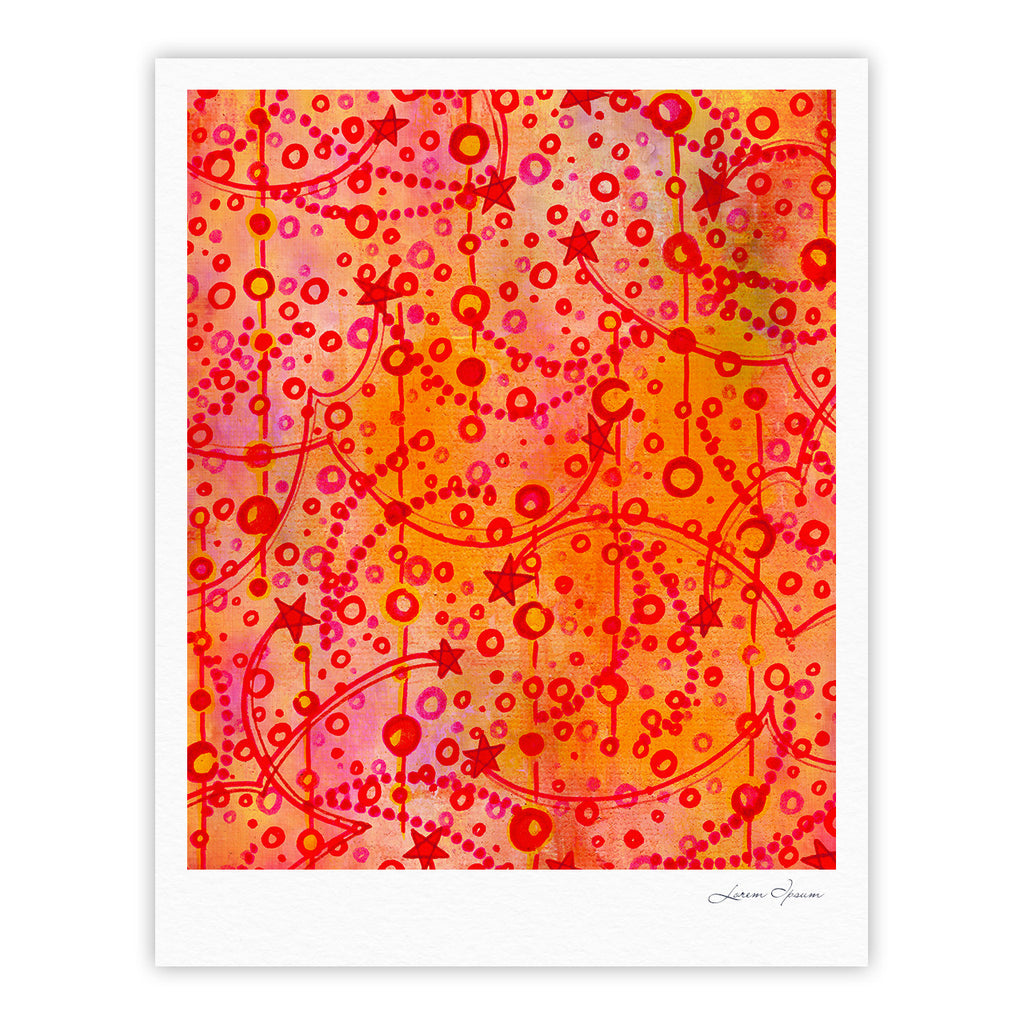 "Ebi Emporium ""Make A Wish"" Orange Red Fine Art Gallery Print - KESS InHouse"