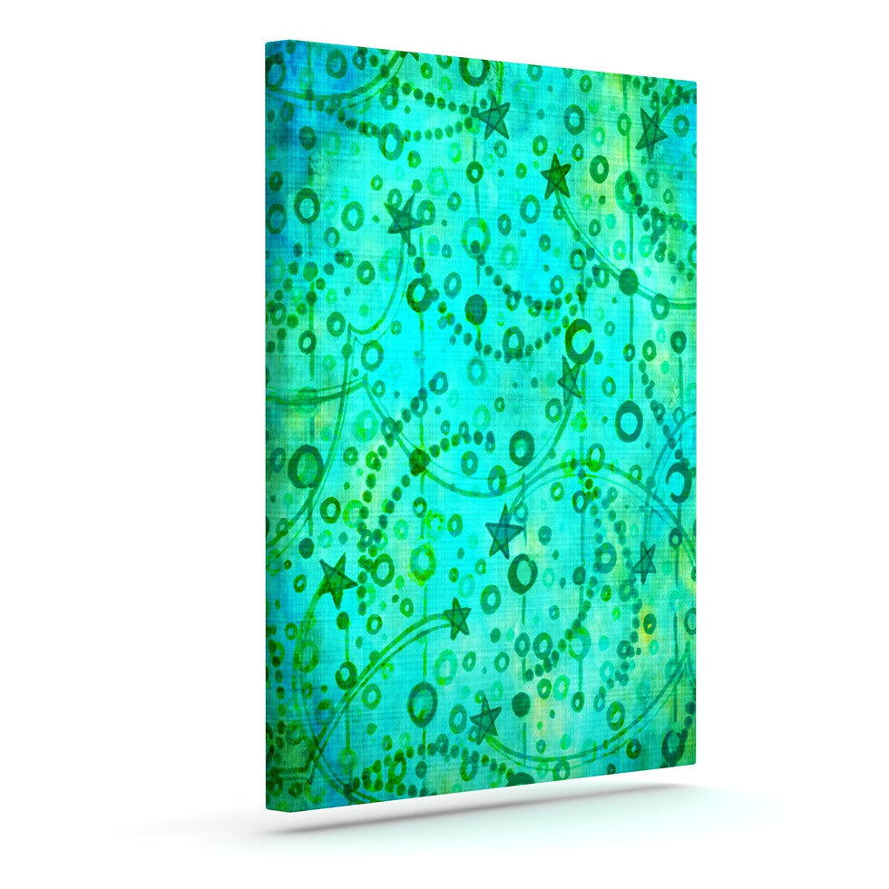 "Ebi Emporium ""Make A Wish II"" Teal Green Canvas Art - KESS InHouse  - 1"