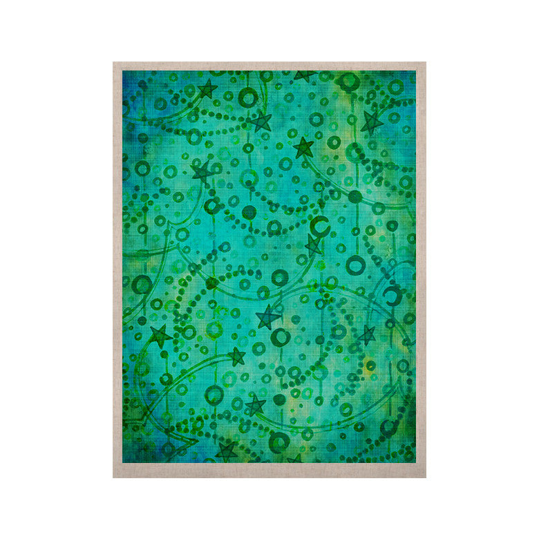 "Ebi Emporium ""Make A Wish II"" Teal Green KESS Naturals Canvas (Frame not Included) - KESS InHouse  - 1"