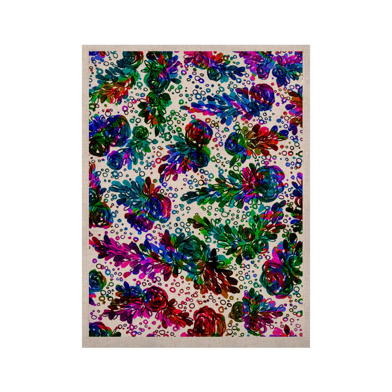 "Ebi Emporium ""Prismatic Posy II"" Rainbow Floral KESS Naturals Canvas (Frame not Included) - KESS InHouse  - 1"