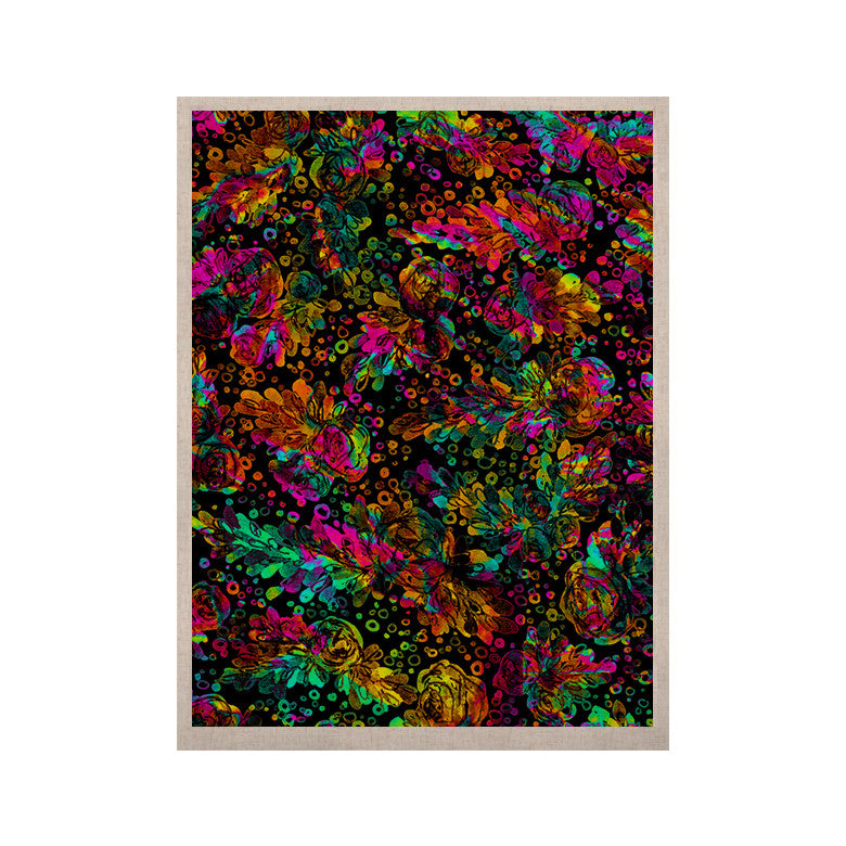 "Ebi Emporium ""Prismatic Posy IV"" Rainbow Floral KESS Naturals Canvas (Frame not Included) - KESS InHouse  - 1"