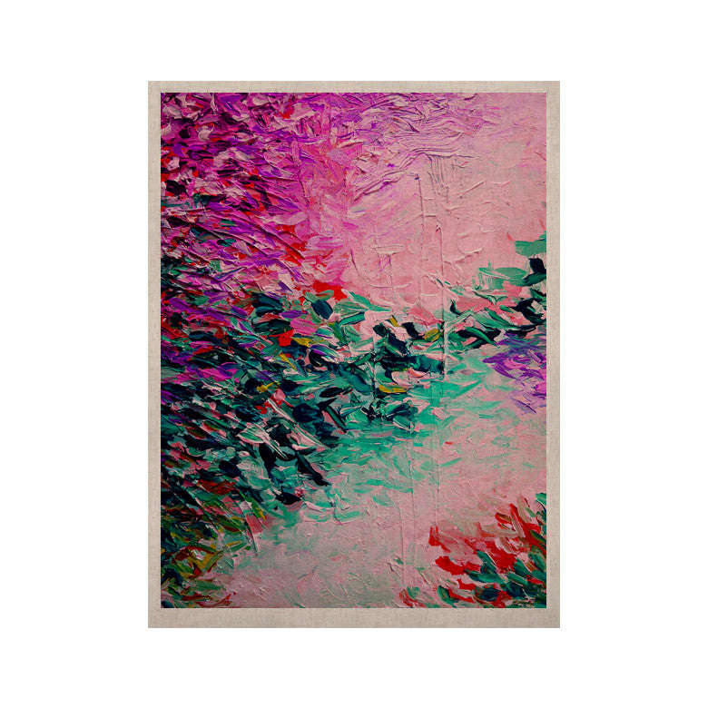 "Ebi Emporium ""Romantic Getaway"" Pink Teal KESS Naturals Canvas (Frame not Included) - KESS InHouse  - 1"