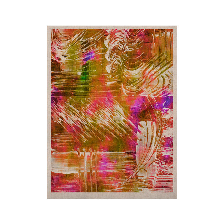 "Ebi Emporium ""Flamenco Moves"" Orange Pink KESS Naturals Canvas (Frame not Included) - KESS InHouse  - 1"