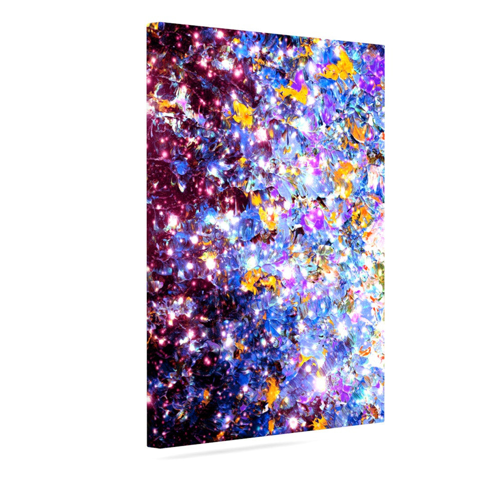 "Ebi Emporium ""Midnight Serenade"" Blue Purple Canvas Art - KESS InHouse  - 1"