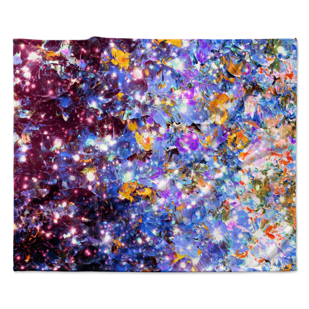 "Ebi Emporium ""Midnight Serenade"" Blue Purple Fleece Throw Blanket"