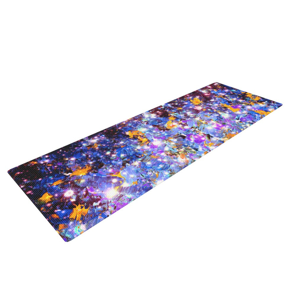 "Ebi Emporium ""Midnight Serenade"" Blue Purple Yoga Mat - KESS InHouse  - 1"
