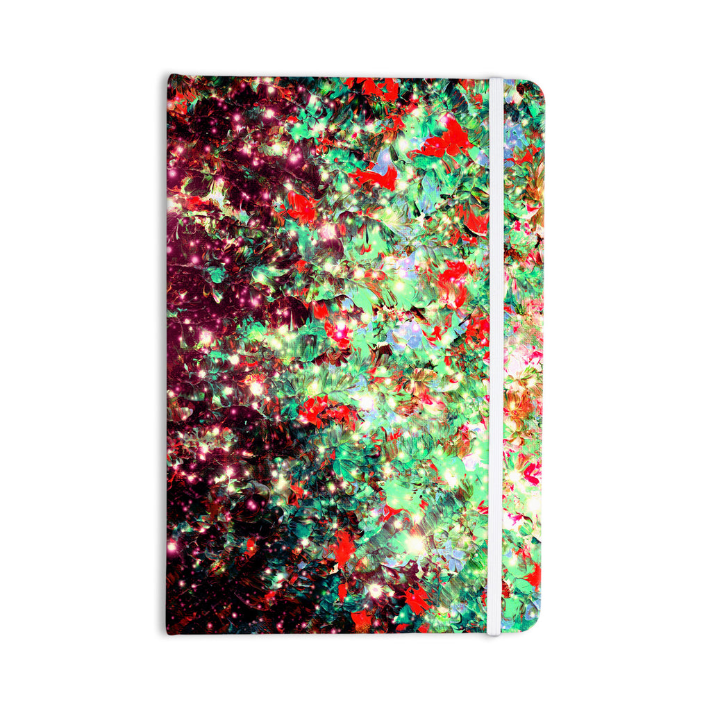 "Ebi Emporium ""Mistletoe Nebula"" Red Green Everything Notebook - KESS InHouse  - 1"
