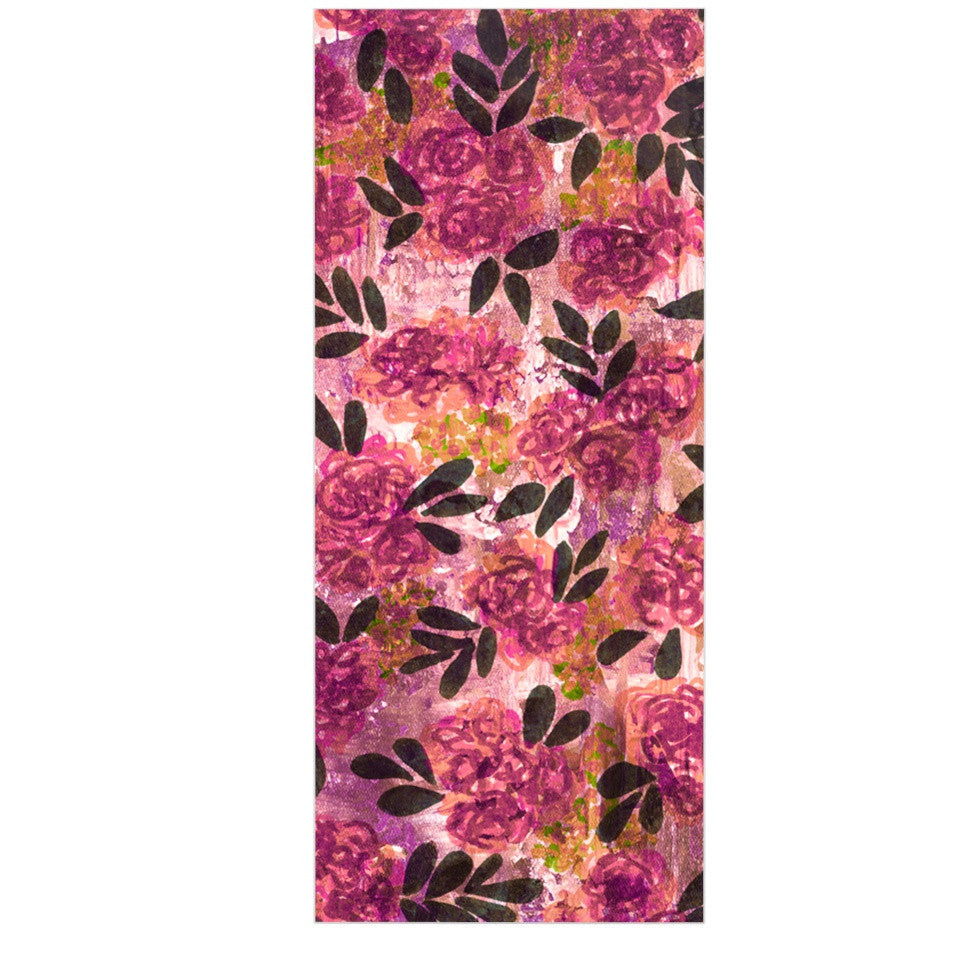 "Ebi Emporium ""Grunge Flowers II"" Pink Floral Luxe Rectangle Panel - KESS InHouse  - 1"