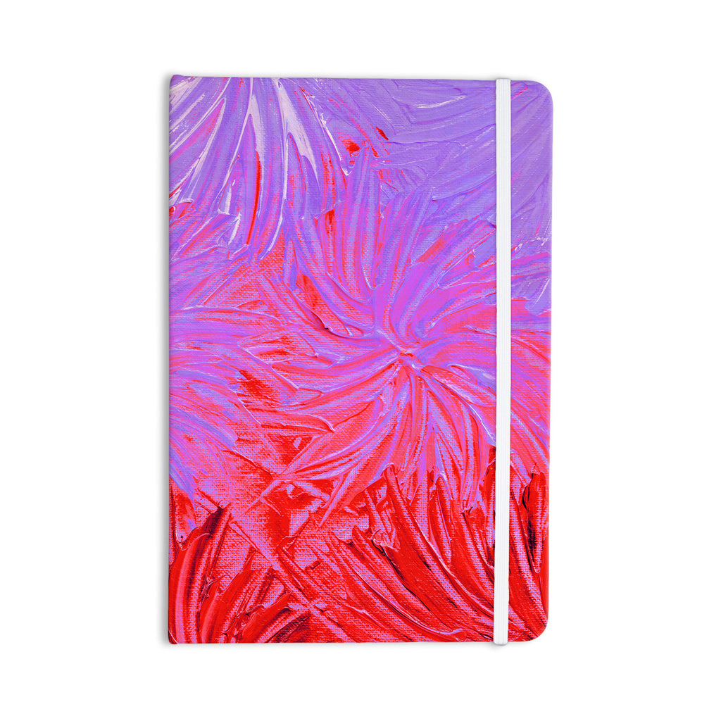 "Ebi Emporium ""Water Flowers Crimson Lilac"" Pink Red Everything Notebook - KESS InHouse  - 1"