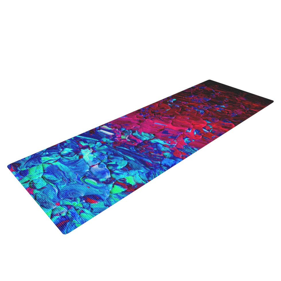 "Ebi Emporium ""Eternal Tide"" Red Blue Yoga Mat - KESS InHouse  - 1"