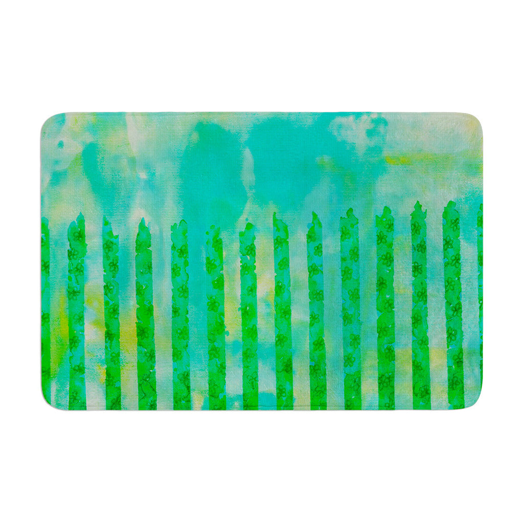 "Ebi Emporium ""Fancy This"" Green Teal Memory Foam Bath Mat - KESS InHouse"