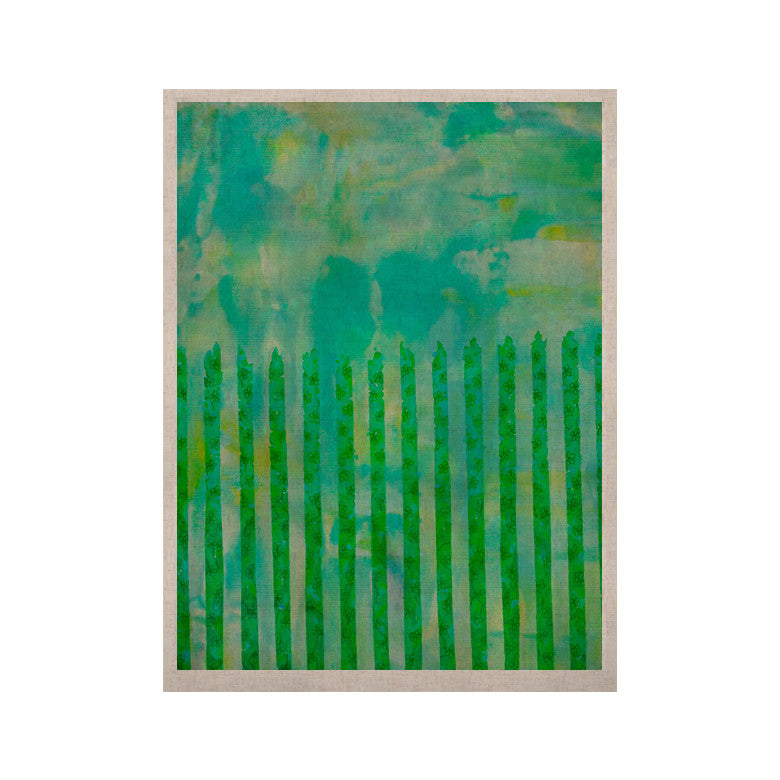 "Ebi Emporium ""Fancy This"" Green Teal KESS Naturals Canvas (Frame not Included) - KESS InHouse  - 1"