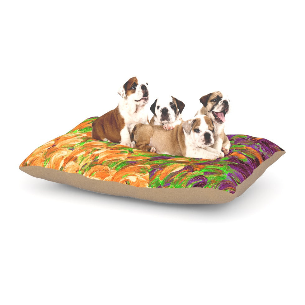 "Ebi Emporium ""Follow the Current III"" Orange Green Dog Bed - KESS InHouse  - 1"