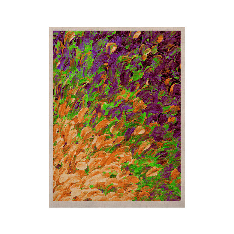 "Ebi Emporium ""Follow the Current III"" Orange Green KESS Naturals Canvas (Frame not Included) - KESS InHouse  - 1"