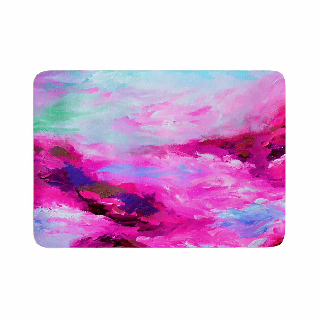 "Ebi Emporium ""Taken By The Undertow 4"" Pink Magenta Memory Foam Bath Mat - KESS InHouse"