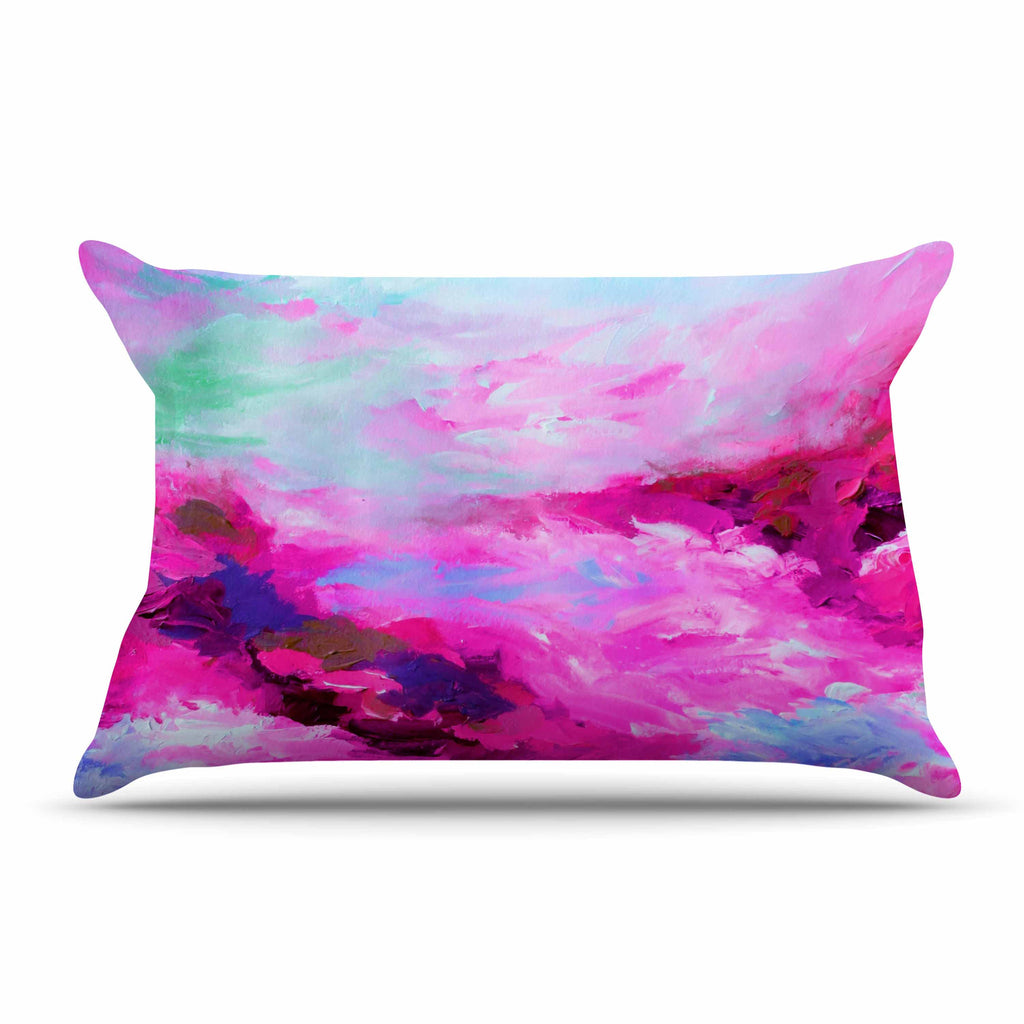 "Ebi Emporium ""Taken By The Undertow 4"" Pink Magenta Pillow Sham - KESS InHouse"