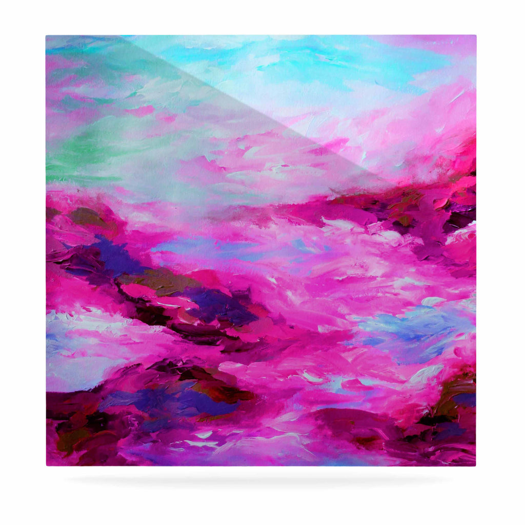 "Ebi Emporium ""Taken By The Undertow 4"" Pink Magenta Luxe Square Panel - KESS InHouse  - 1"