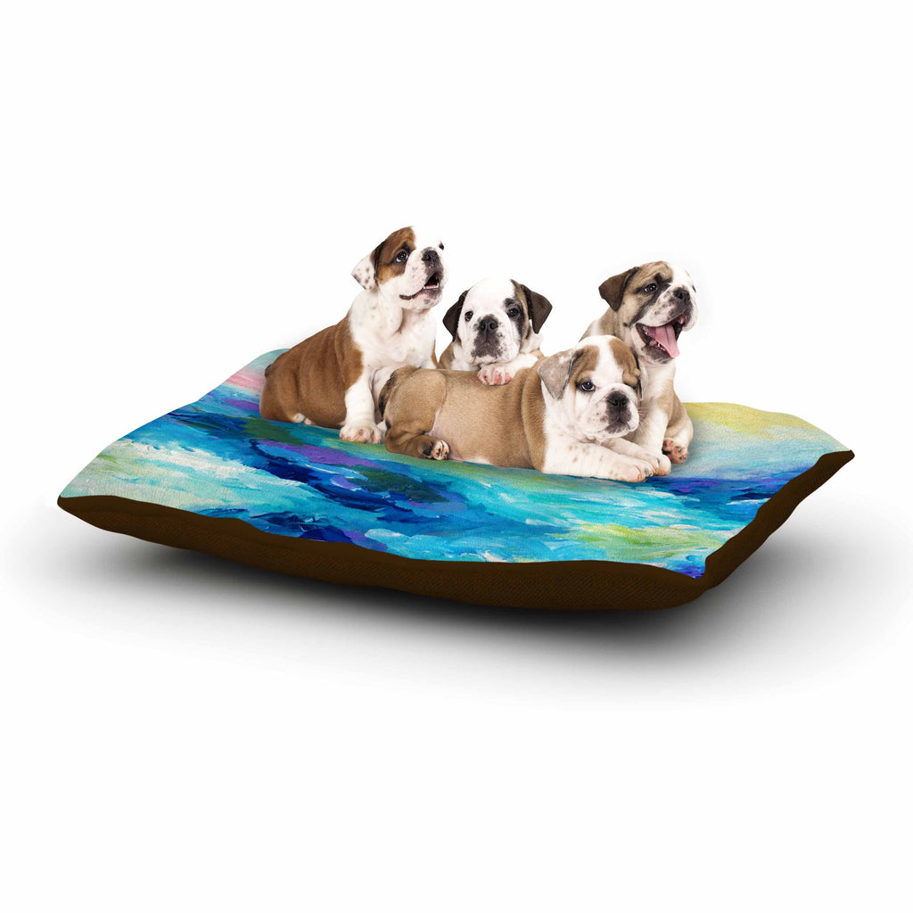 "Ebi Emporium ""Taken By The Undertow"" Green Blue Dog Bed - KESS InHouse  - 1"