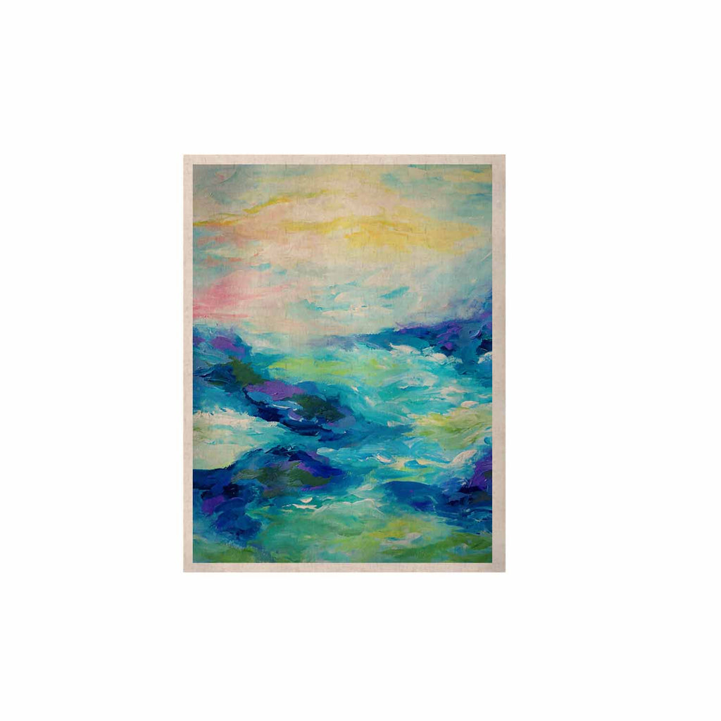 "Ebi Emporium ""Taken By The Undertow"" Green Blue KESS Naturals Canvas (Frame not Included) - KESS InHouse  - 1"