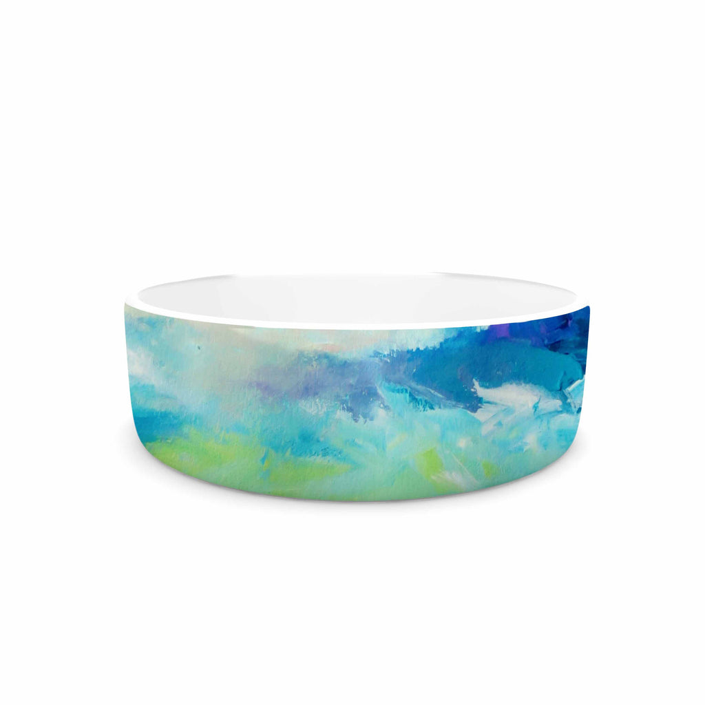 "Ebi Emporium ""Taken By The Undertow"" Green Blue Pet Bowl - KESS InHouse"