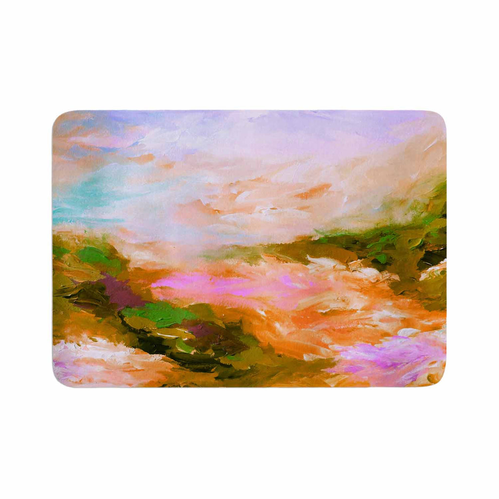 "Ebi Emporium ""Taken By The Undertow 2"" Pink Orange Memory Foam Bath Mat - KESS InHouse"