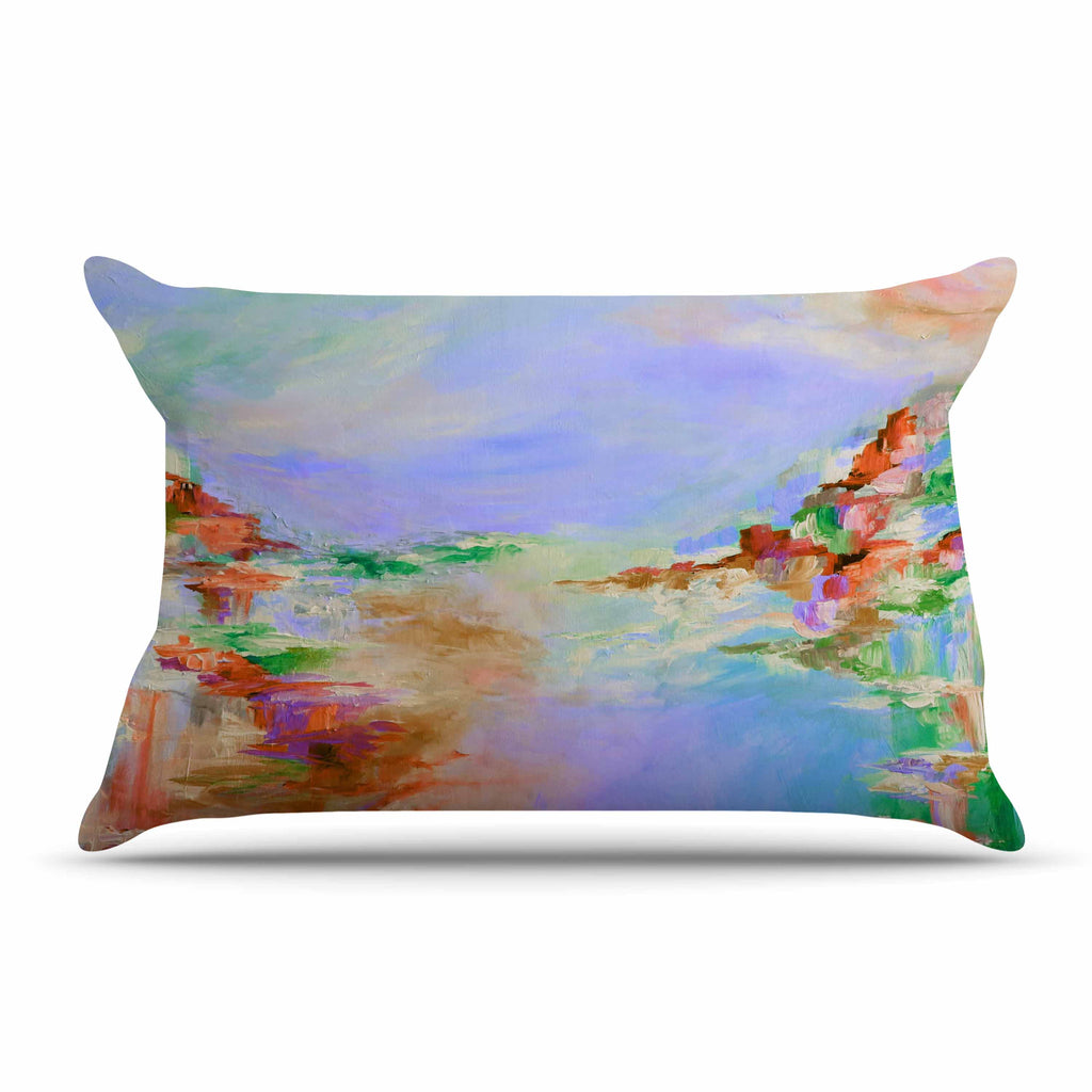 "Ebi Emporium ""Something About the Sea 3"" Multicolor Lavender Pillow Sham - KESS InHouse"