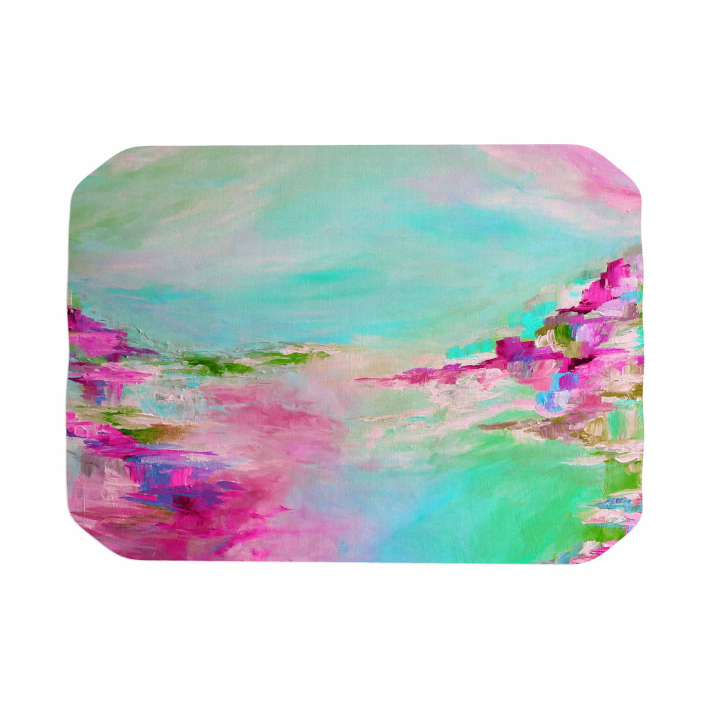 "Ebi Emporium ""Something About the Sea 2"" Teal Pink Place Mat - KESS InHouse"