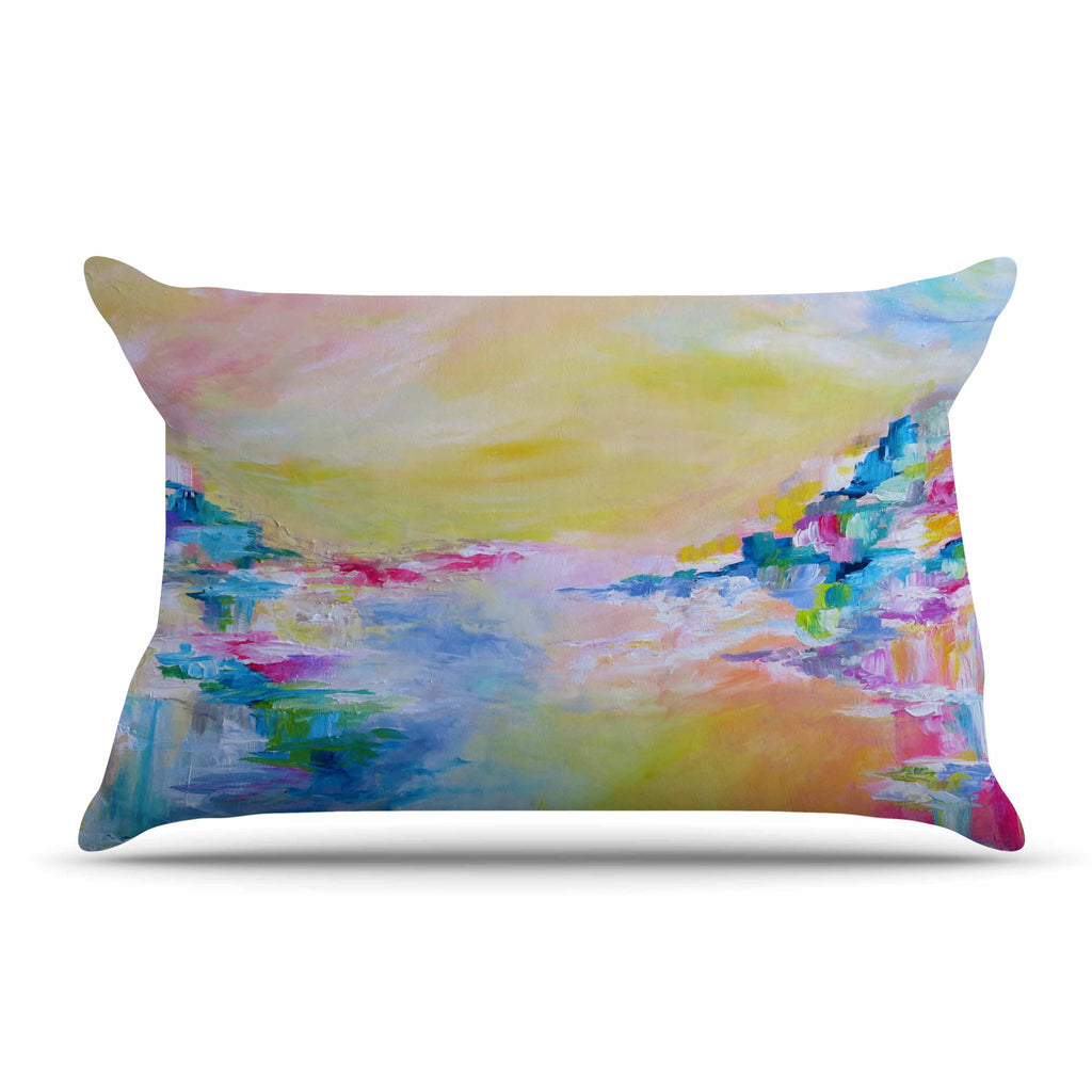 "Ebi Emporium ""Something About the Sea"" Yellow Multicolor Pillow Sham - KESS InHouse"