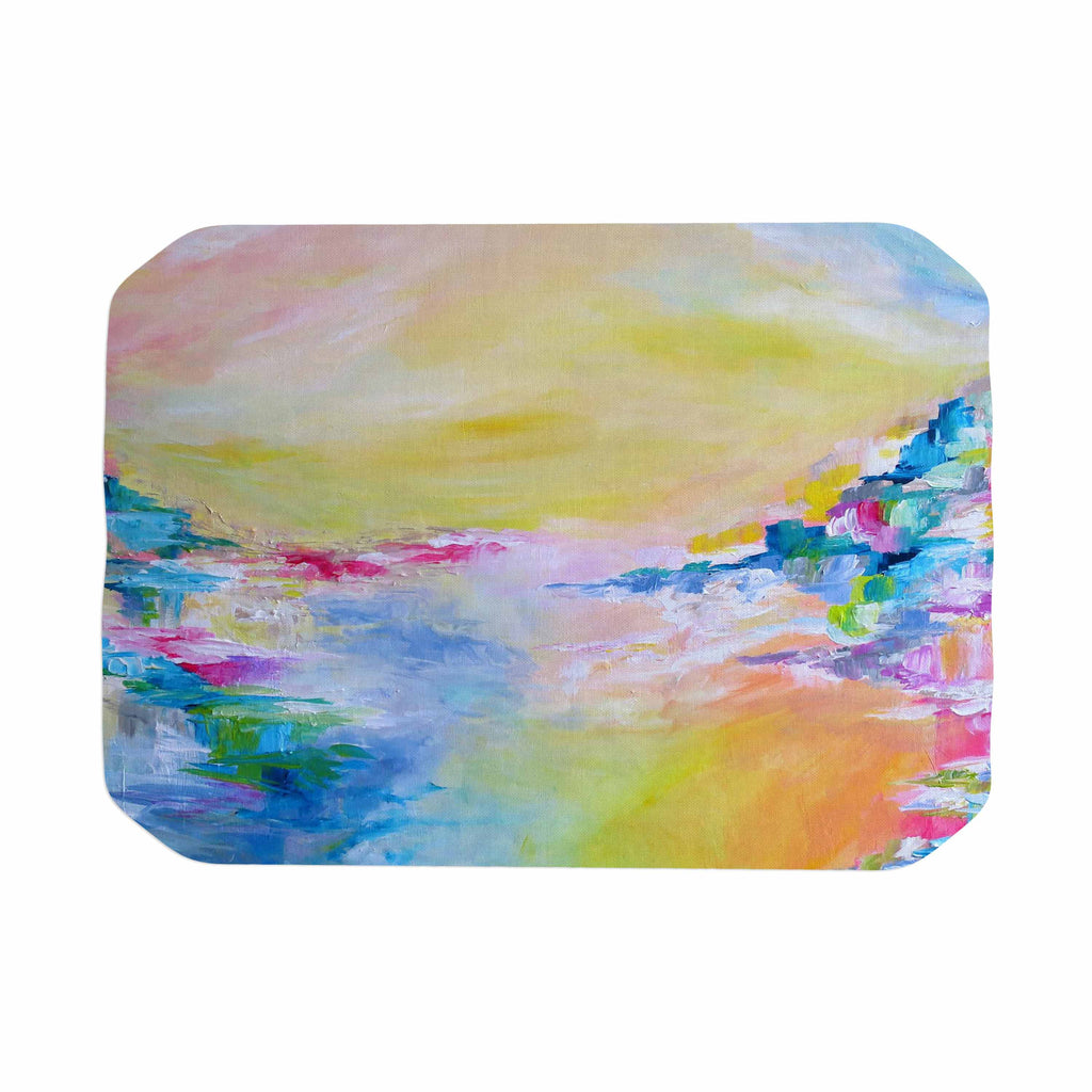 "Ebi Emporium ""Something About the Sea"" Yellow Multicolor Place Mat - KESS InHouse"