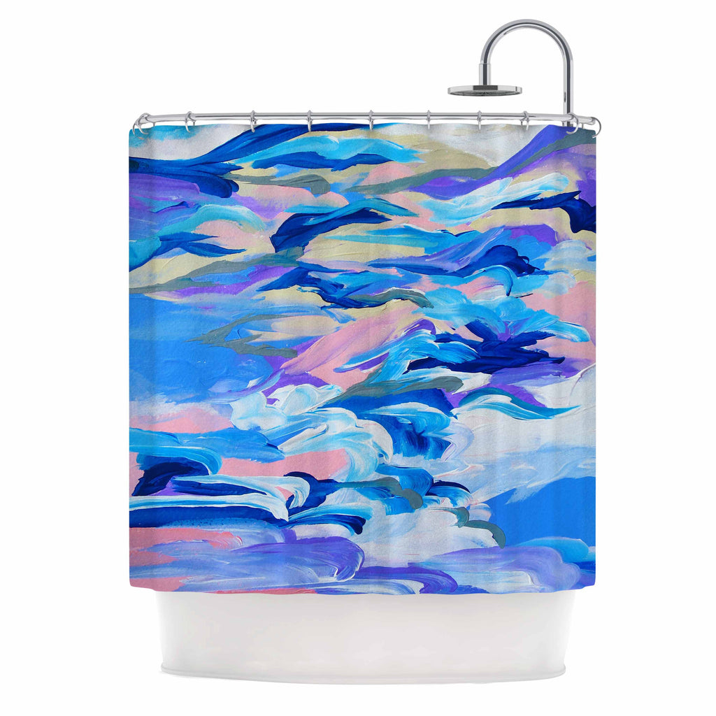 "Ebi Emporium ""Still Up The Air"" Blue Purple Shower Curtain - KESS InHouse"