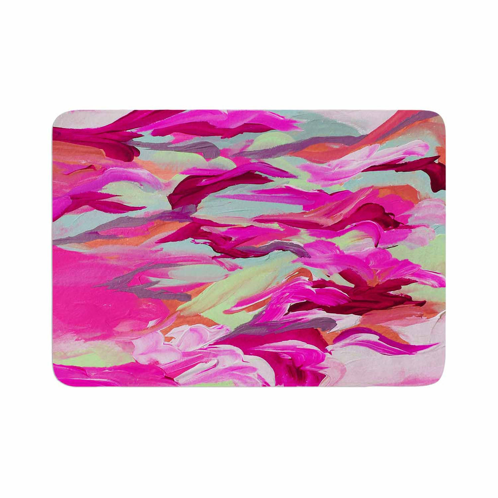 "Ebi Emporium ""Still Up In The Air 3"" Pink Magenta Memory Foam Bath Mat - KESS InHouse"