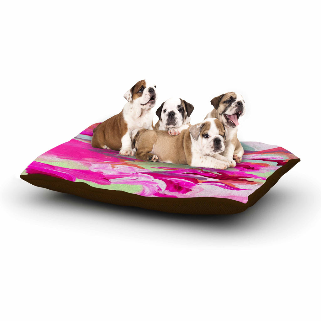 "Ebi Emporium ""Still Up In The Air 3"" Pink Magenta Dog Bed - KESS InHouse  - 1"