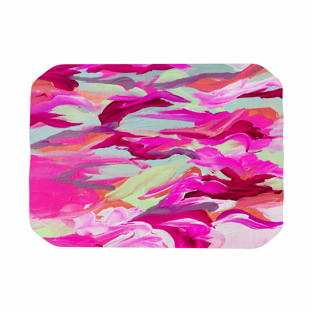 "Ebi Emporium ""Still Up In The Air 3"" Pink Magenta Place Mat - KESS InHouse"