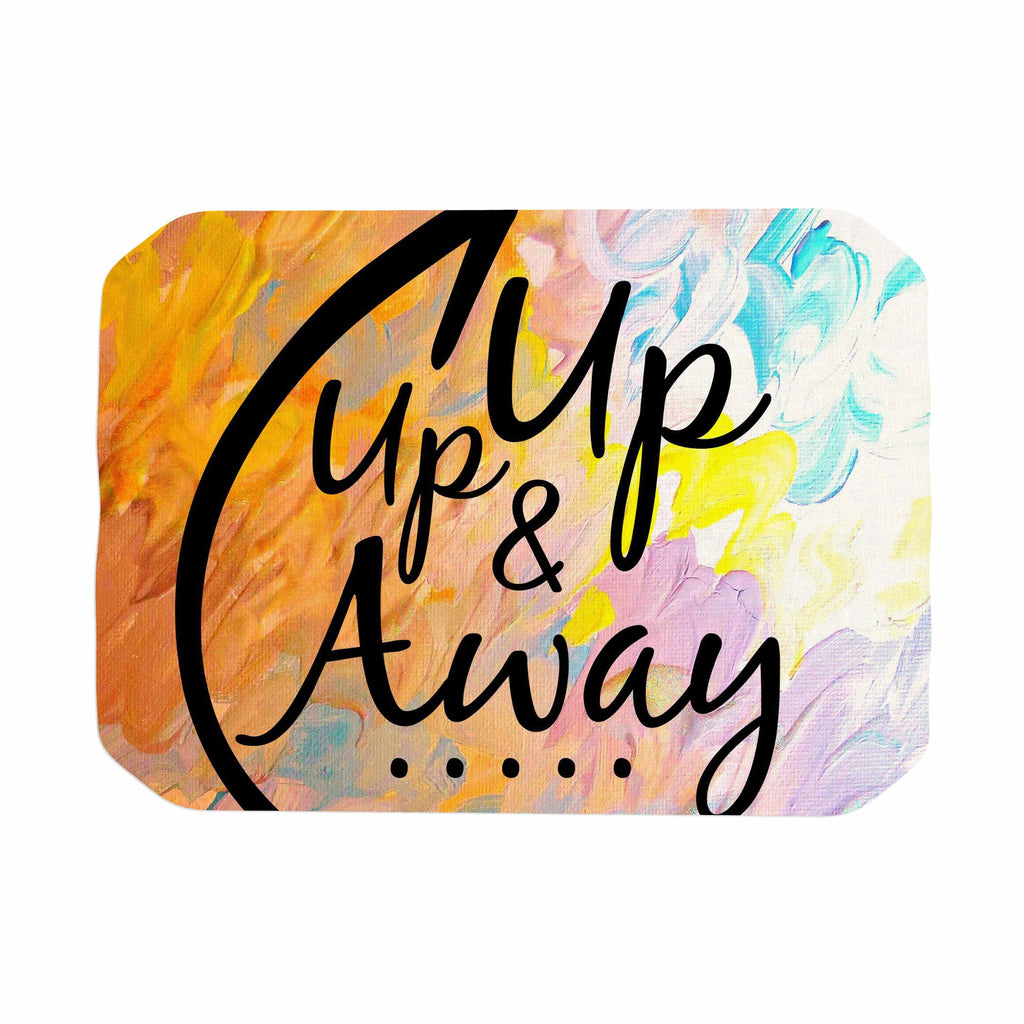 "Ebi Emporium ""Up Up & Away"" Orange Typography Place Mat - KESS InHouse"