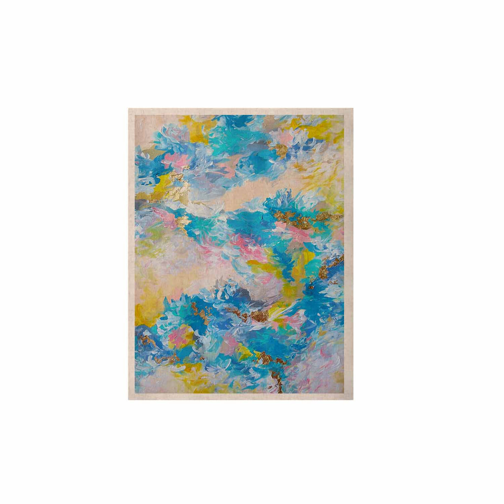 "Ebi Emporium ""When We Were Mermaids"" Blue Yellow KESS Naturals Canvas (Frame not Included) - KESS InHouse  - 1"