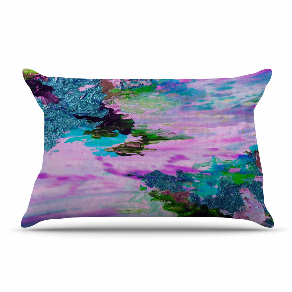 "Ebi Emporium ""On Cloud Nine - 4"" Pink Teal Pillow Sham - KESS InHouse"