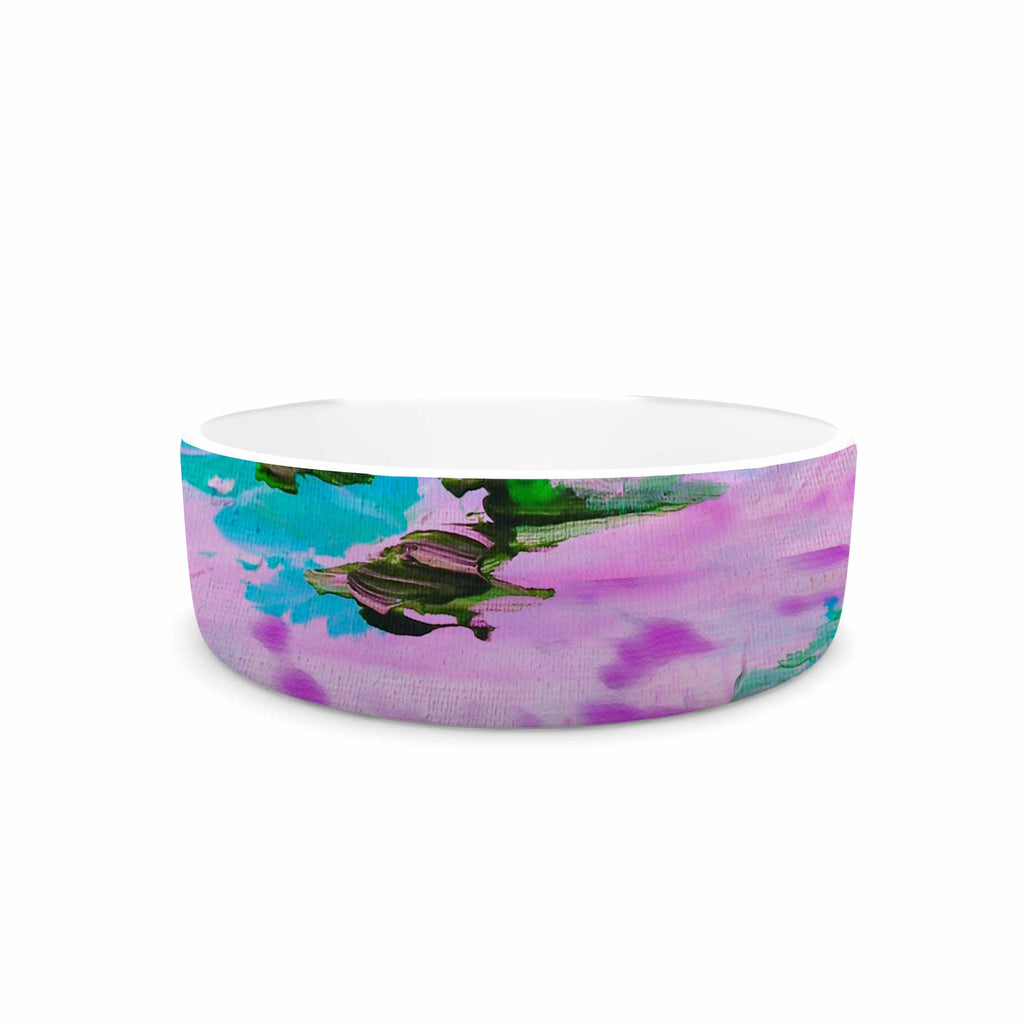 "Ebi Emporium ""On Cloud Nine - 4"" Pink Teal Pet Bowl - KESS InHouse"