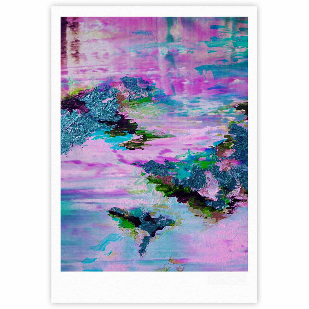 "Ebi Emporium ""On Cloud Nine - 4"" Pink Teal Fine Art Gallery Print - KESS InHouse"